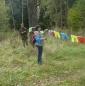 Место проведения оформляется табличками, призывающими сохранять чистоту леса